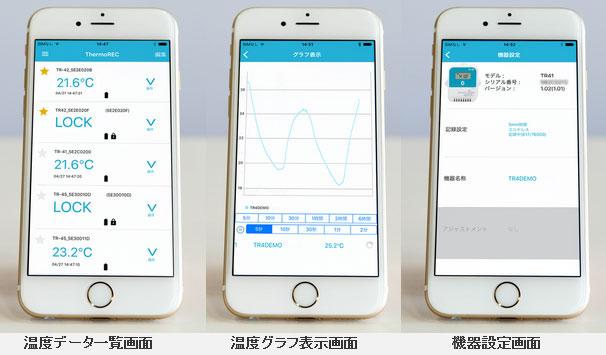 TR4シリーズ専用アプリ